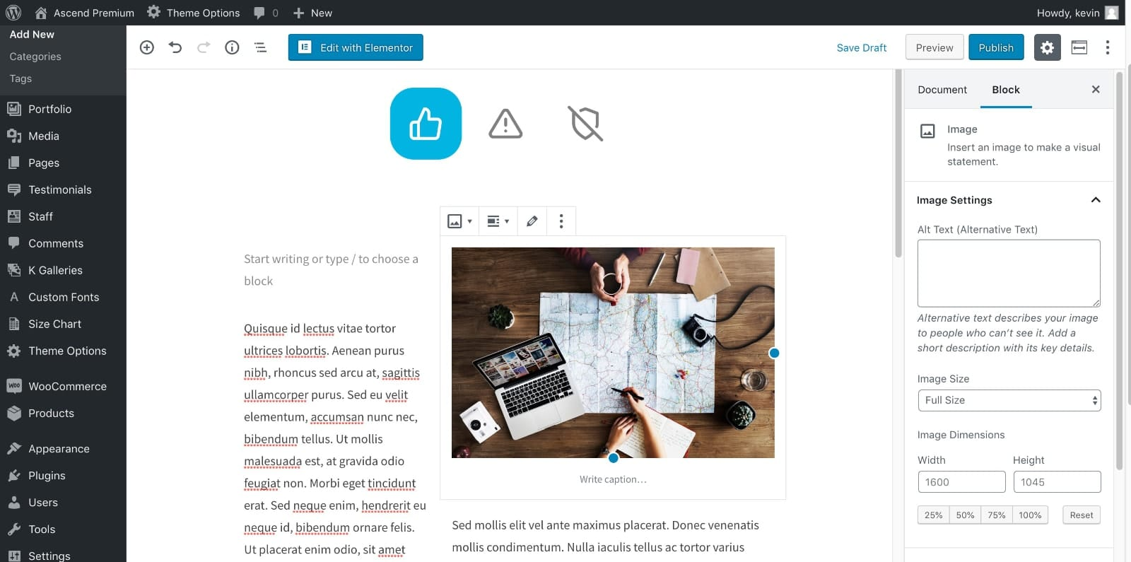 Customize Page Layout
