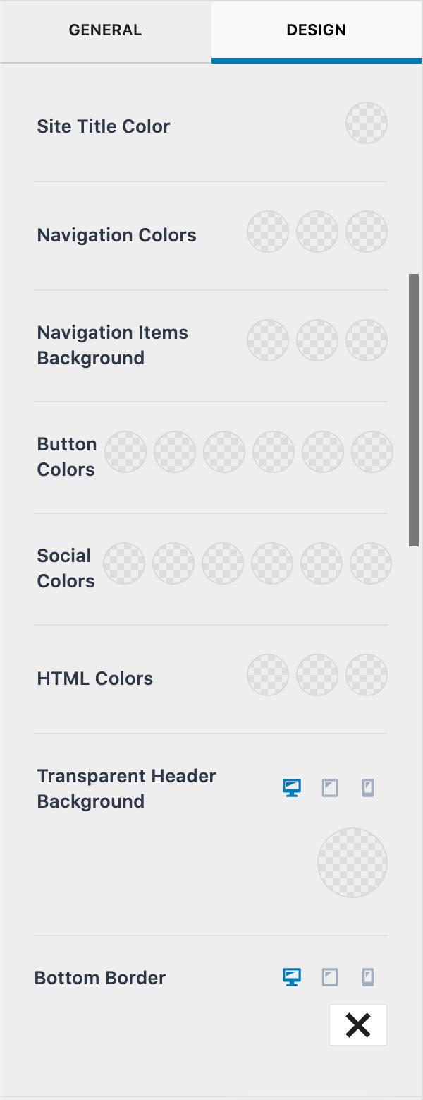Transparent Header Design options - Kadence