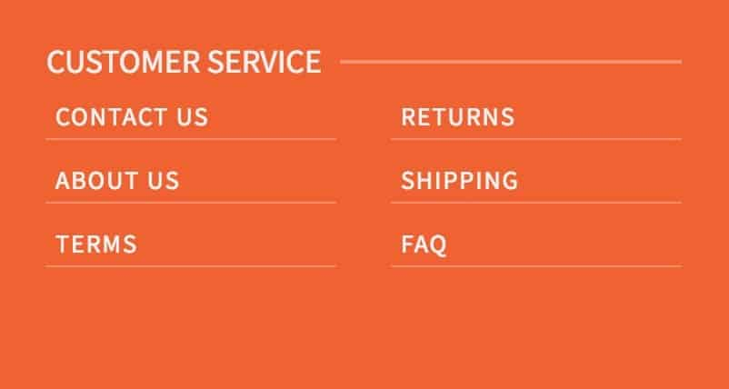 footer menu with underlines kadence themes ascend