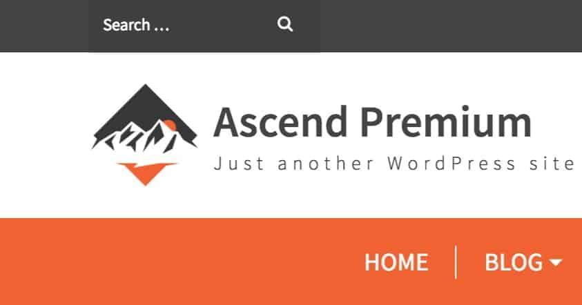 topbar search font ascend theme