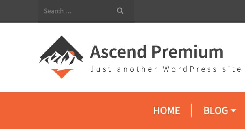 topbar search placeholder font ascend theme