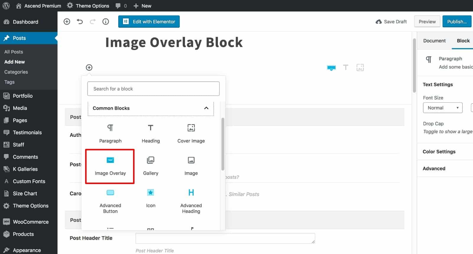 Image Overlay Block