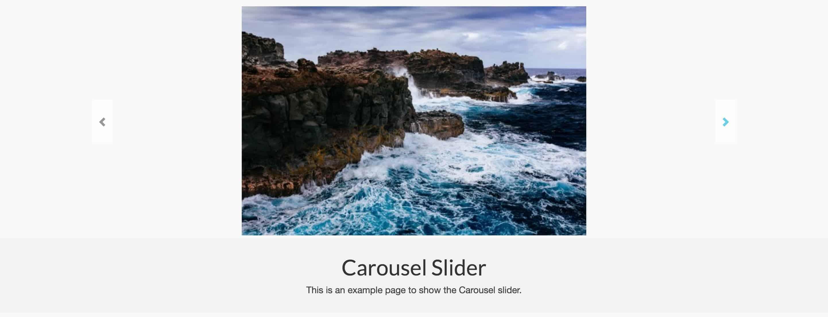 Carousel Slider Example