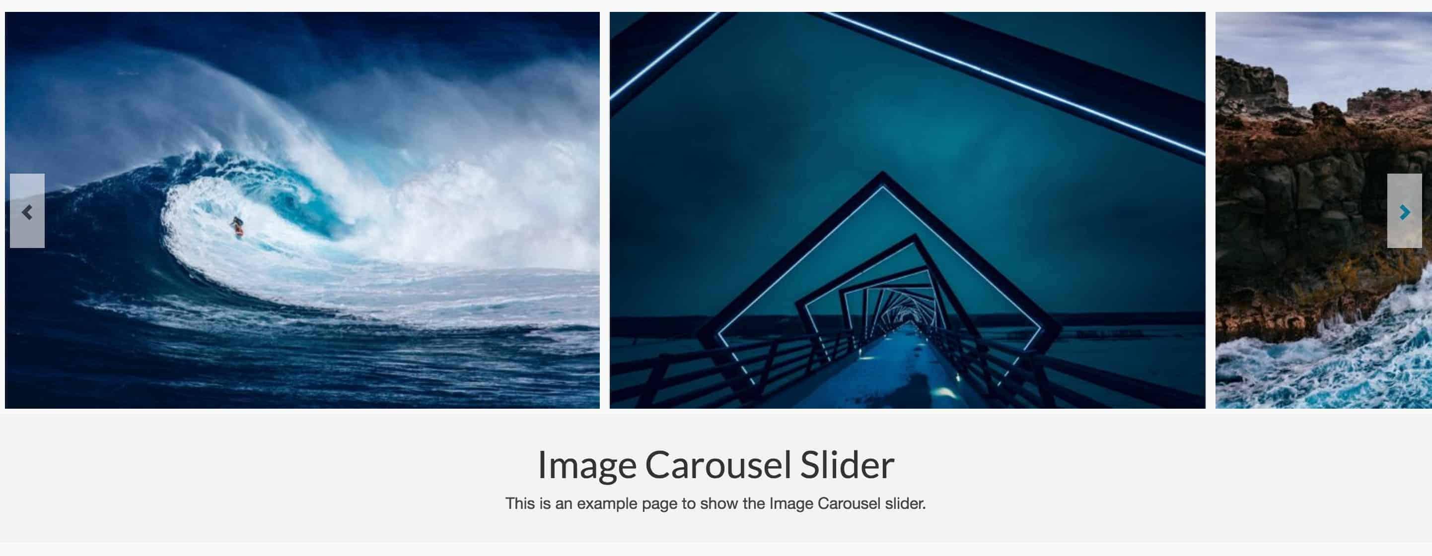 Image Carousel Example