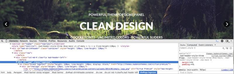 Chrome Inspect Tool – Kadence Knowledge Base