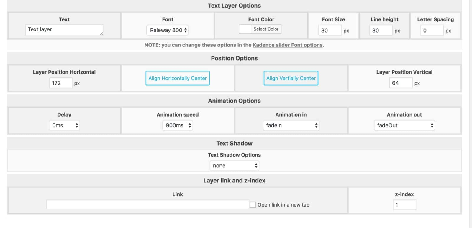 Text Layer Options