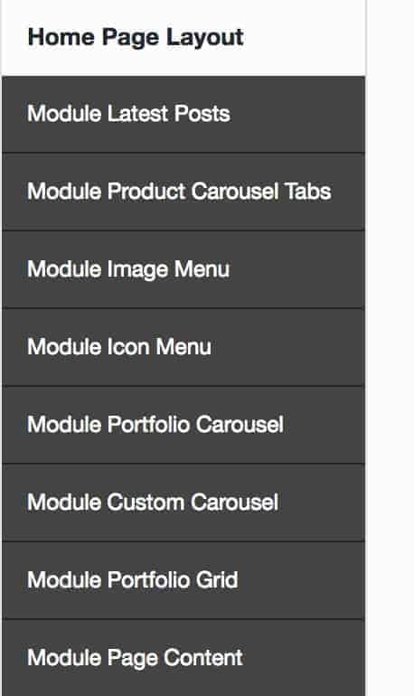 Edit Homepage Modules