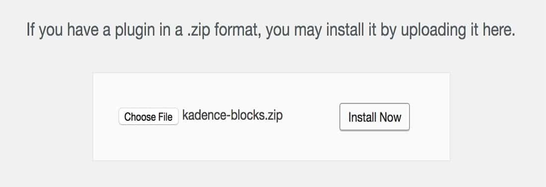 Install Kadence Blocks