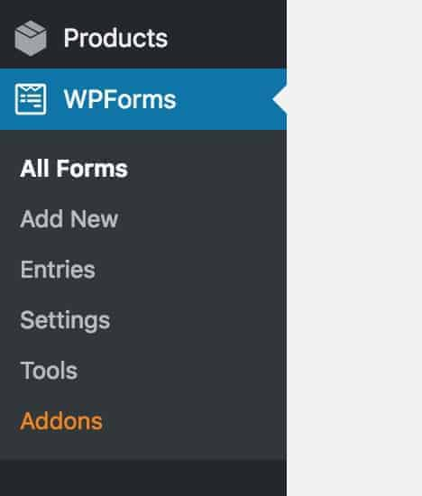 WP Forms Admin Sidebar
