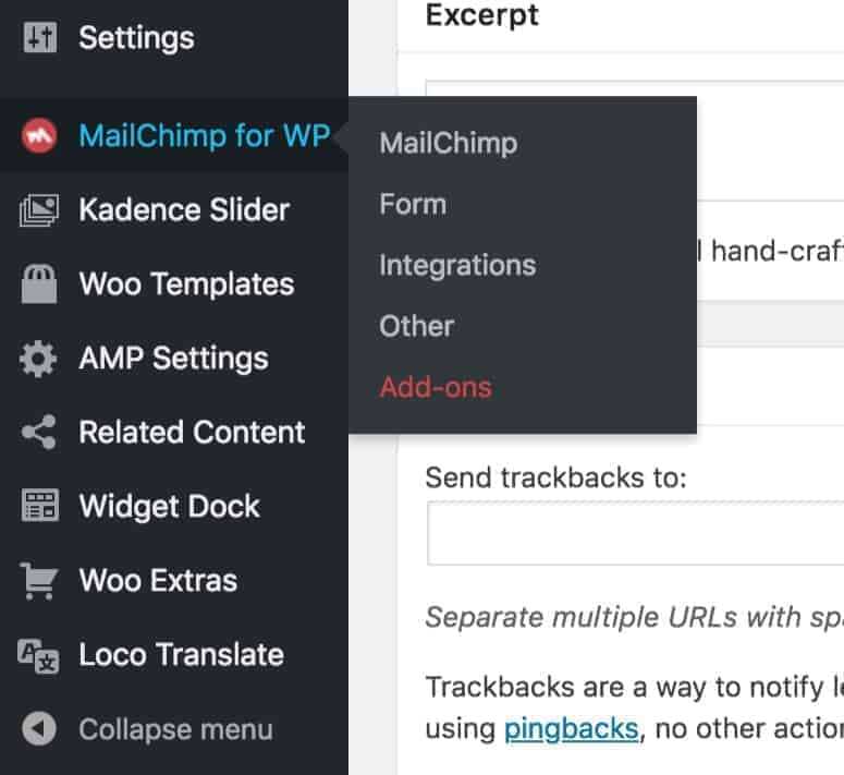 MailChimp for WP Admin
