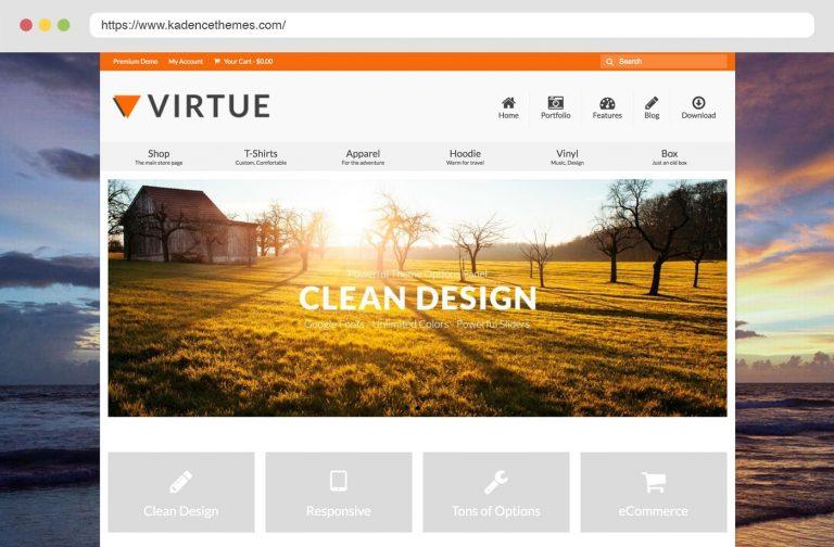 Virtue Free Wordpress Theme by Kadence Themes