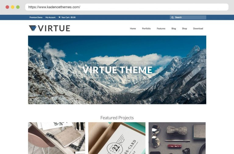 Virtue Free Wordpress Theme by Kadence Themes
