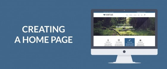 Creating a Home Page with Virtue Premium