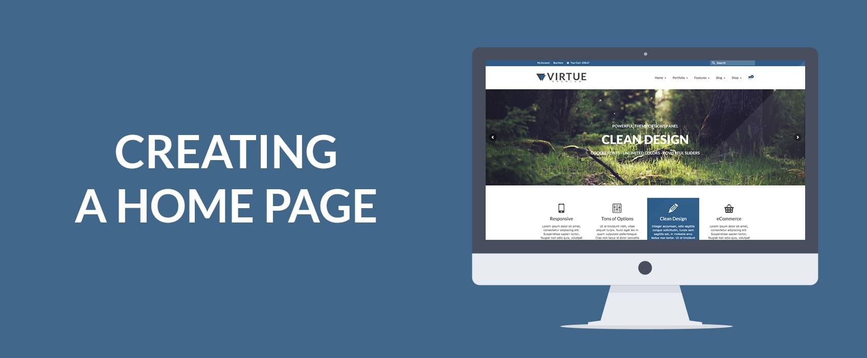 kadence themes creating a home page with virtue