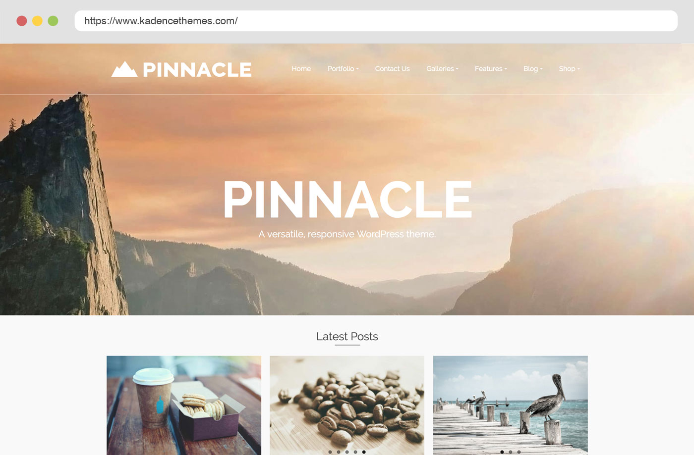pinnacle free wordpress theme by kadence themes