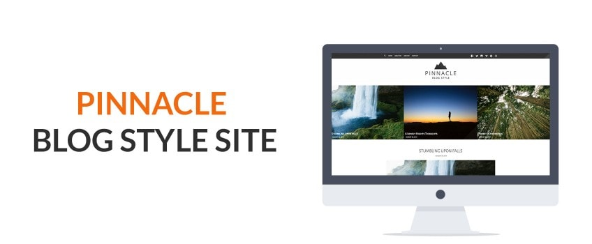 Creating a Blog Demo Style Page with Pinnacle