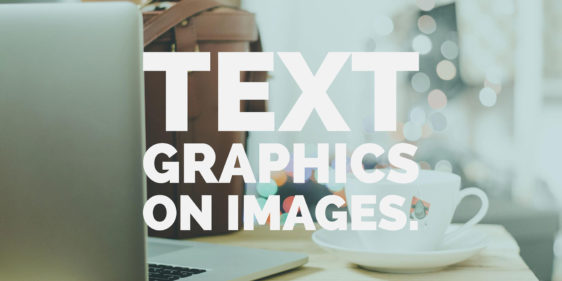 How to overlay text graphics on images