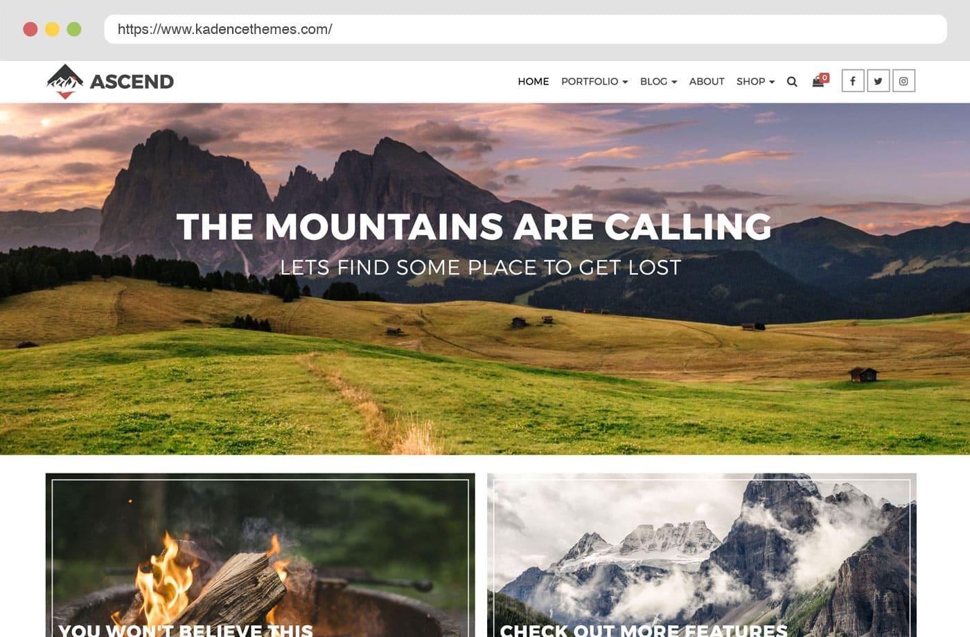 Gmail themes mountains - 1 2
