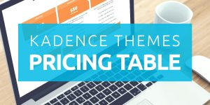 Kadence Pricing Table