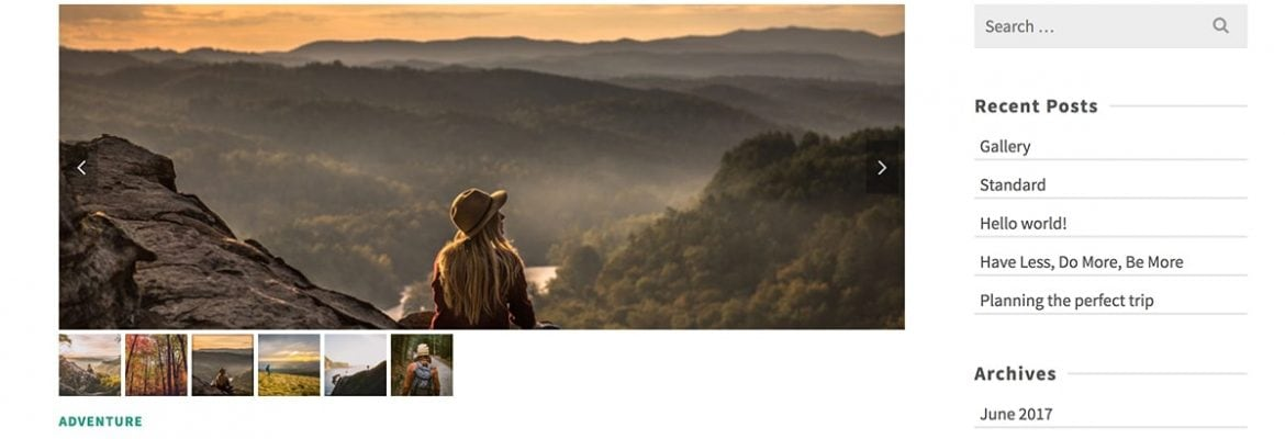 Image Slider with Thumbnails – (Cropped Image Ratio)