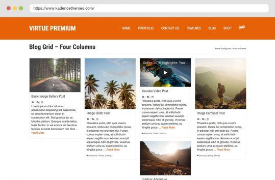 Virtue Premium Blog Four Column