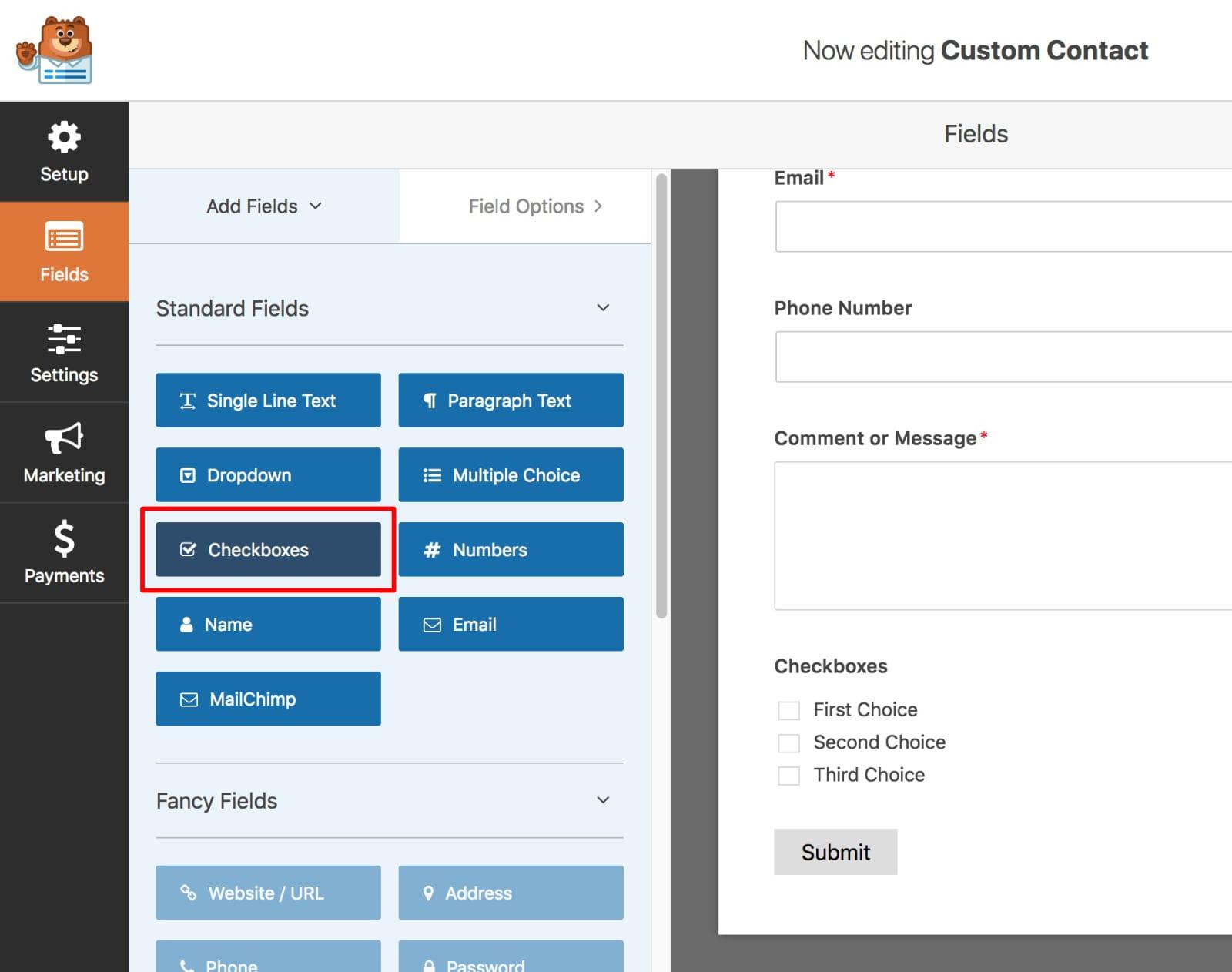 select-checkbox-wpforms-kadence-themes