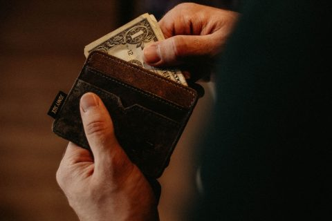 Dollar Bill in Wallet